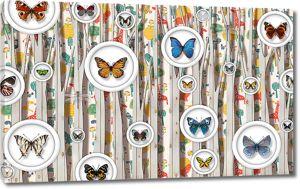 Тарелочки с бабочками