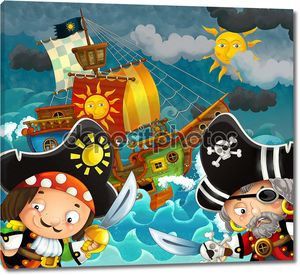 Иллюстрация с пиратами