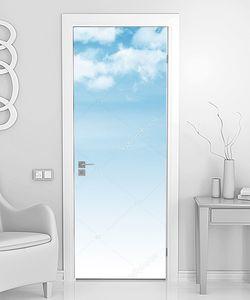 Синее небо с фоном облаков