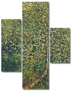 Моне Клод. Цветущие яблони у воды, 1880 02
