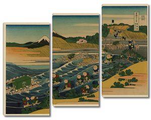 Кацусика Хокусай. Вид Фудзи со станции Каная дороги Токайдо