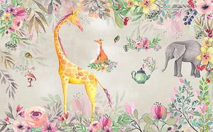 Животные в цветочках