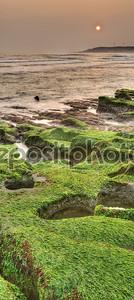 Панорамный пейзаж побережья