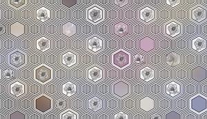 Geometrical fusion-разноцветный орнамент из сот