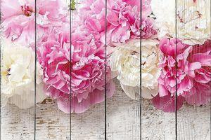 Потрясающие Розовые пионы, желтых гвоздик и роз