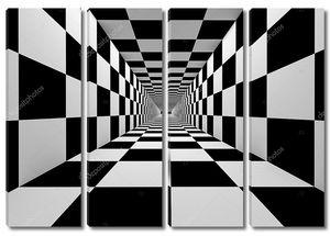 изменчивый черно-белый тоннель