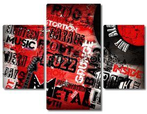 плакат рок-музыки