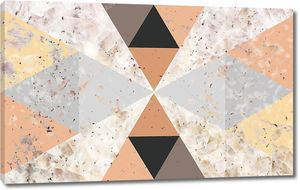 Абстрактный геометрический фон из треугольников разных цветов и размеров