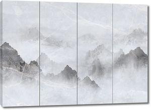 Горы на настенных панелях
