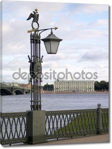 Старая уличный фонарь в Санкт-Петербурге