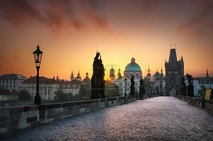 Яркие утром в Праге, Чешская Республика