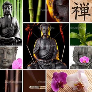Будда Zen Азия коллаж
