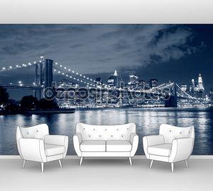 Бруклинский мост и манхэттенский горизонт