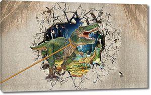 Мир динозавров за стеной