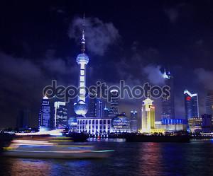 Жемчужина башня ночью