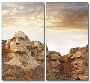 Рашмор - скала с портретами президентов