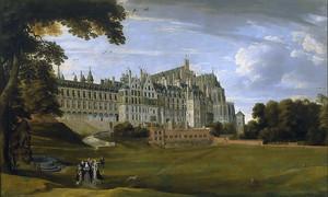 Ян Брейгель (Младший).Королевский дворец Куденберг близ Брюсселя