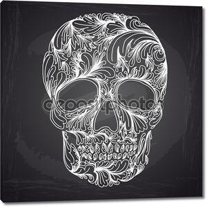 Векторная иллюстрация черепа