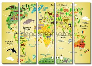 мультипликационная карта мира
