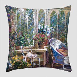Уютная беседка с множеством цветов