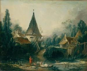 Буше Франсуа. Пейзаж в окрестностях Бове