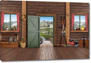 Интерьер домика в горах