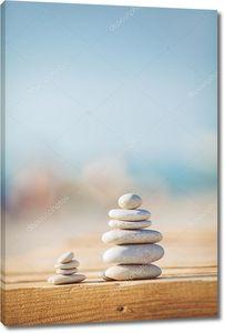 Дзен камни фон белый и черный