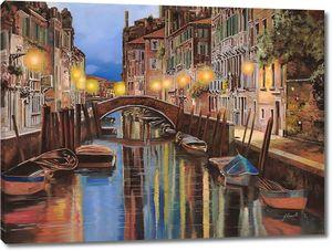 Фонари, канал, мостик