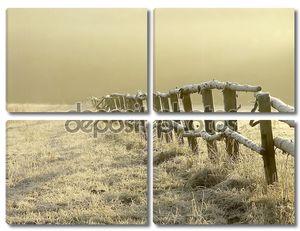 Зимний рассвет над Туманные луга