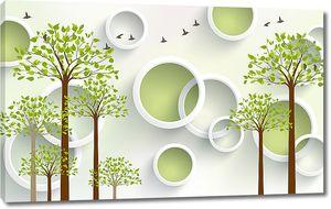 Деревья с зелеными кольцами