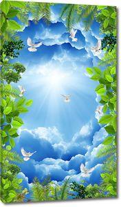 Небо обрамленное зеленью