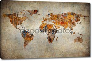 Гранж карта мира