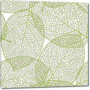 Свежие зеленые листья фон - векторные иллюстрации