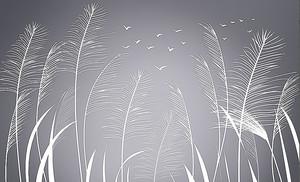 Растения в виде перьев