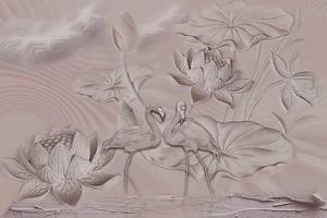 Фламинго и лотосы