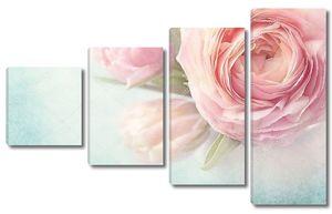 Розовые цветы крупно