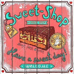Sweetshop vintage candy poster
