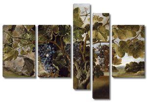 Йепес Томас. Пейзаж с виноградной лозой