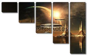 Чужеродные Планета с космических кораблей