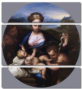 Джордано Лука. Святое семейство со св Иоанном