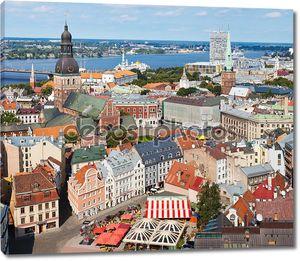 Вид на старый Рига, Латвия