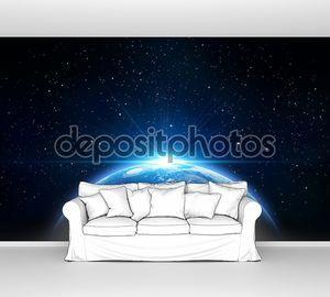 синий Рассвет, вид земли из космоса