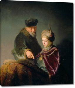 Рембрандт. Принц Руперт Палатинский с учителем