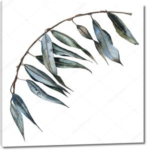 Акварель Сухие осенние листья