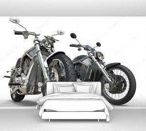 Черный и белый мотоциклов