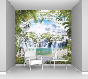Вид с террасы на сказочные водопады