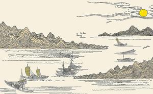 Рыболовные суда на реке