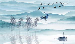Олень у озера