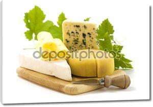 Сыр деревянной доске