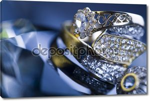 Бриллианты - драгоценные камни - кольца